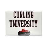 Curling University Rectangle Magnet