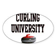 Curling University Oval Decal