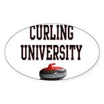 Curling University Oval Sticker