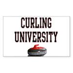 Curling University Rectangle Sticker