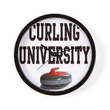 Curling University Wall Clock