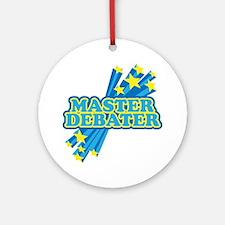 Master Debater Ornament (Round)