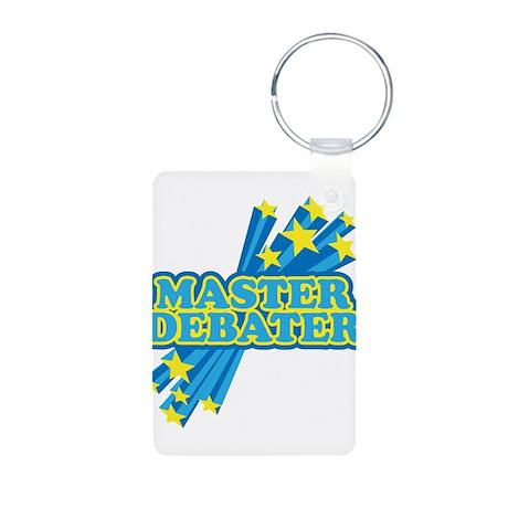 Master Debater Aluminum Photo Keychain