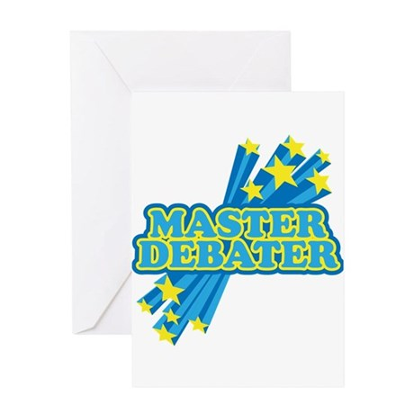 Master Debater Greeting Card