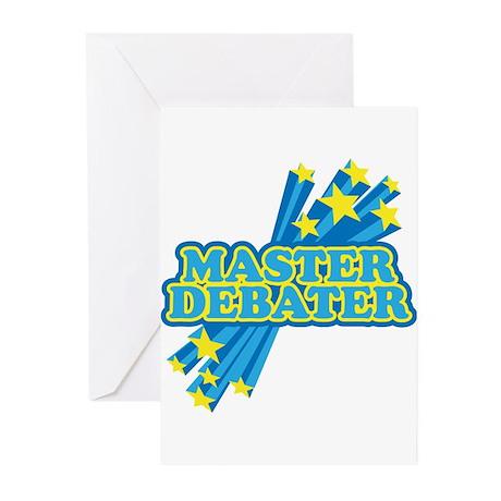 Master Debater Greeting Cards (Pk of 10)