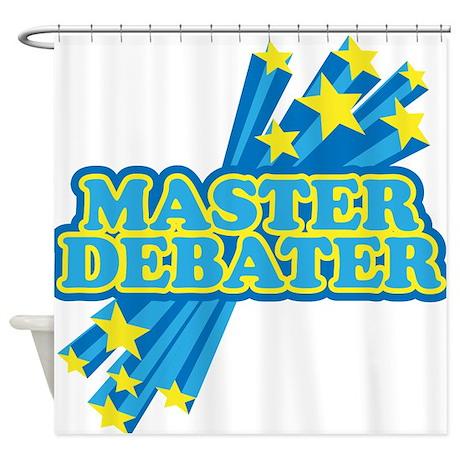 Master Debater Shower Curtain