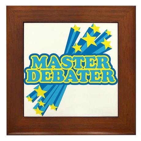 Master Debater Framed Tile
