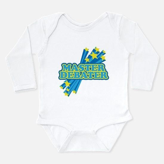 Master Debater Long Sleeve Infant Bodysuit