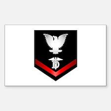 Navy PO3 Dental Technician Sticker (Rectangle)