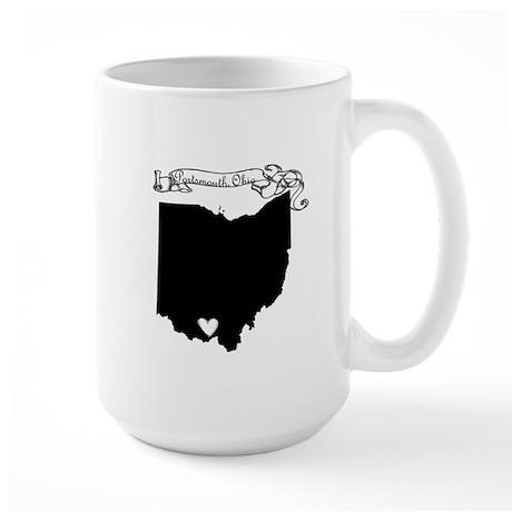 Portsmouth Ohio Large Mug