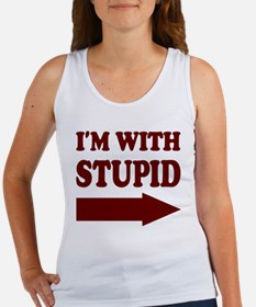 IM WITH STUPID (arrow) Women's Tank Top