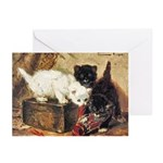 TEATIME FOR KITTENS Greeting Cards (Pk of 10)