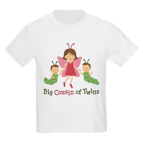 Big Cousin of Twins - Butterfly Kids Light T-Shirt