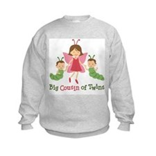 Big Cousin of Twins - Butterfly Sweatshirt