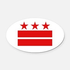 3 Stars and 2 Bars Oval Car Magnet