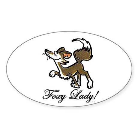 Foxy Lady Oval Sticker