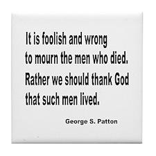 Patton on Death Tile Coaster