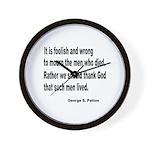 Patton on Death Wall Clock
