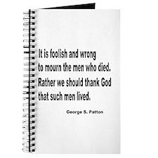 Patton on Death Journal