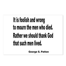 Patton on Death Postcards (Package of 8)