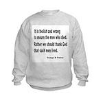 Patton on Death Kids Sweatshirt