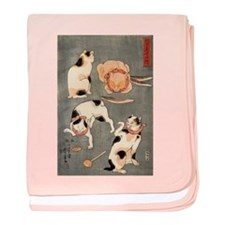 Japanese Cats baby blanket
