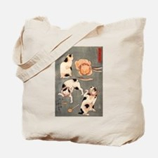 Japanese Cats Tote Bag
