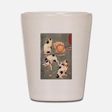 Japanese Cats Shot Glass