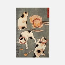 Japanese Cats Rectangle Magnet