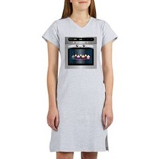 Cute Happy Oven with cupcakes Women's Nightshirt