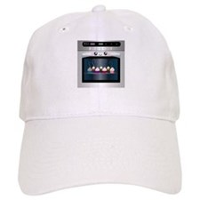 Cute Happy Oven with cupcakes Baseball Cap