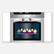 Cute Happy Oven with cupcakes Decal