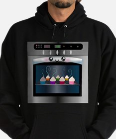Cute Happy Oven with cupcakes Hoodie (dark)