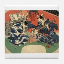 Japanese Cats Tile Coaster
