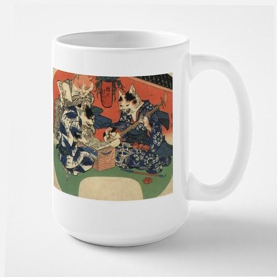 Japanese Cats Large Mug