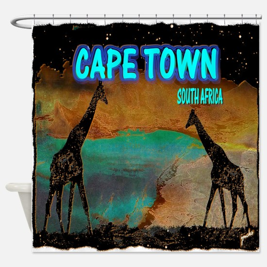 cape town africa Shower Curtain
