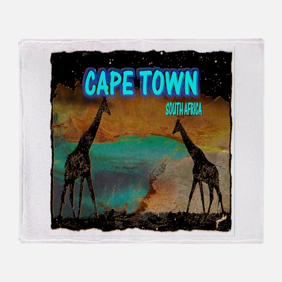 cape town africa Throw Blanket