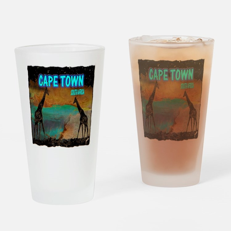 cape town africa Drinking Glass