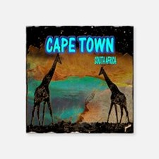 "cape town africa Square Sticker 3"" x 3"""