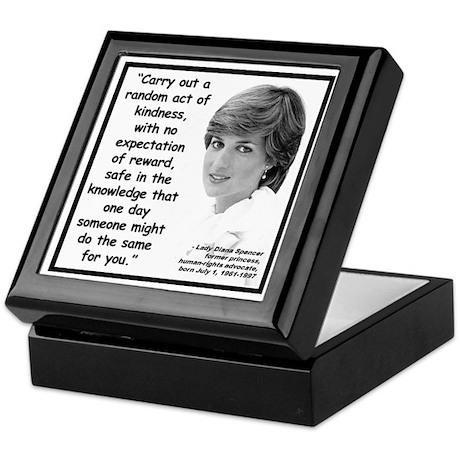 Diana Kindness Quote 2 Keepsake Box