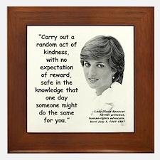 Diana Kindness Quote 3 Framed Tile