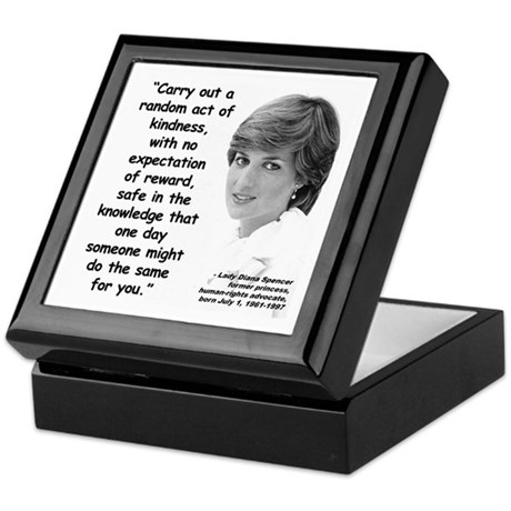 Diana Kindness Quote 3 Keepsake Box