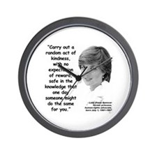 Diana Kindness Quote 3 Wall Clock