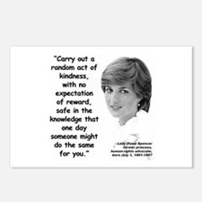 Diana Kindness Quote 3 Postcards (Package of 8)