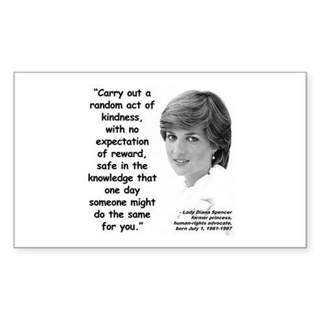 Diana Kindness Quote 3 Sticker (Rectangle)