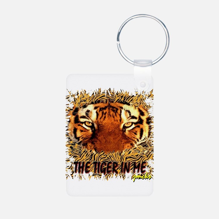 the tiger in me Keychains