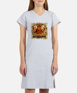 the tiger in me Women's Nightshirt
