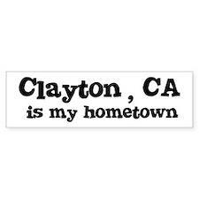Clayton - hometown Bumper Bumper Sticker