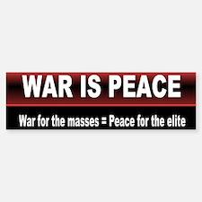 was is peace... Bumper Bumper Bumper Sticker