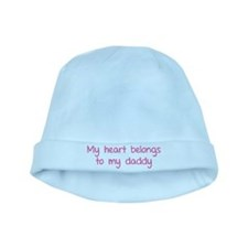 My heart belongs te my daddy baby hat